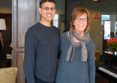 Dr. Khan with Dr. Marlène Boudreault after the conference.