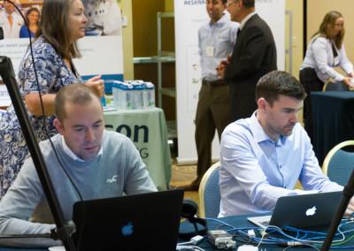Noovo Creative team preparing to live stream the conference