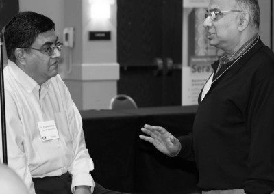 Dr. Predeep Chopra collaborating with Dr. Samyadev Datta at the conference