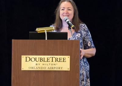 Linda Elsegood introducing the speakers