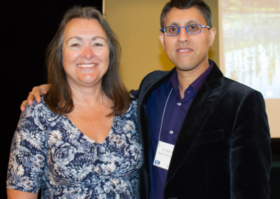 Dr. Khan with Linda Elsegood, director of LDN Research Trust UK, and conference organizer