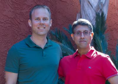 Dr. Khan with Dr. Michael Reid