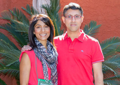 Dr. Khan with Dr. Sharon Gurm