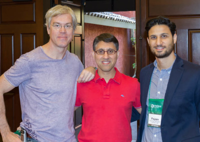 Dr. Khan with Dr. Sean Ceaser (left) and Dr. Payam Kiani (right)