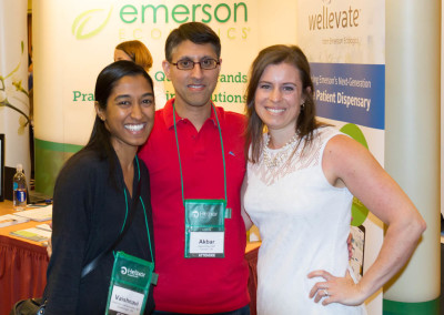 Dr. Khan with Dr. Vaishna Sathiamoorthy (left) and Dr. Jordan Robertson (right)