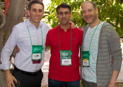 Dr. Khan with Dr. Dan Rubin (left) and Dr. Dan Lander (right)