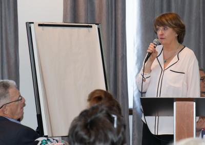 Dr. Chrisitne Angelard presenting about integrative cancer care.