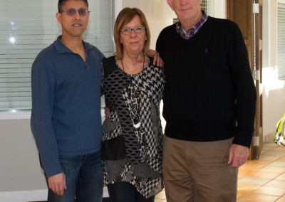 Dr. Khan, Dr. Boudreault and Dr. Seyfried relaxing at the spa after the conference
