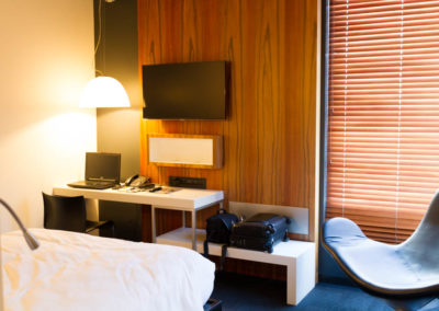 Modern guest rooms at Hotel ALT