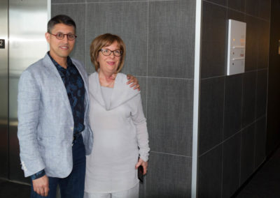 Dr. Marlène Boudreault with Dr. Khan.