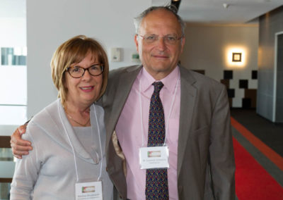 Dr. Marlène Boudreault with Dr. Laurent Schwartz.