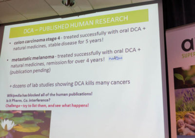 Dr. Khan speaking about DCA as a cancer therapy.