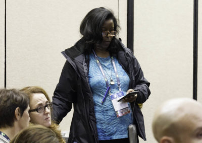 Dr. Christine Salter, integrative physician, attending the conference.