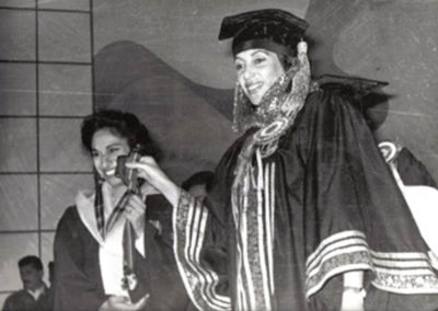 Medicor president Dr. Humaira Khan (left), graduation ceremony
