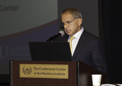 Dr. Joseph Maroon, renowned neurosurgeon, author and Pittsburgh Steelers team physician, opening the conference.