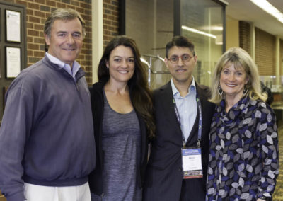 Dr. Khan with Chip, Kendell and Susan Reichhart.