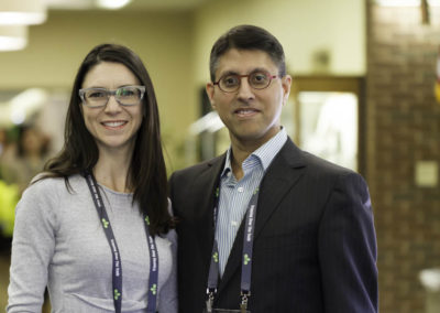 Dr. Marie-Soleil Noreau, ND with Dr. Khan.