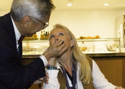 """Dr. Yu asks Jane McLelland to try some intra-nasal """"liquid oxygen"""" drops."""