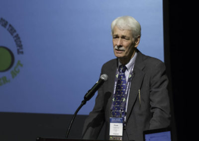 """Frank Cousineau, arbitration lawyer and author of """"Cancer Breakthrough USA!"""", presenting about intergative cancer therapy."""