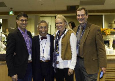 Dr. Khan with Dr. George Yu, Jane McLelland, and Dr. Greg Riggins.