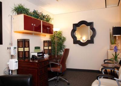 Comfortable treatment room