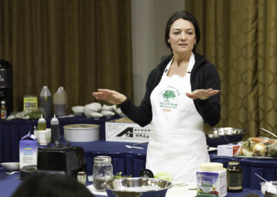 Kendell demonstrates how to prepare delicious and healthy food for cancer prevention and therapy.