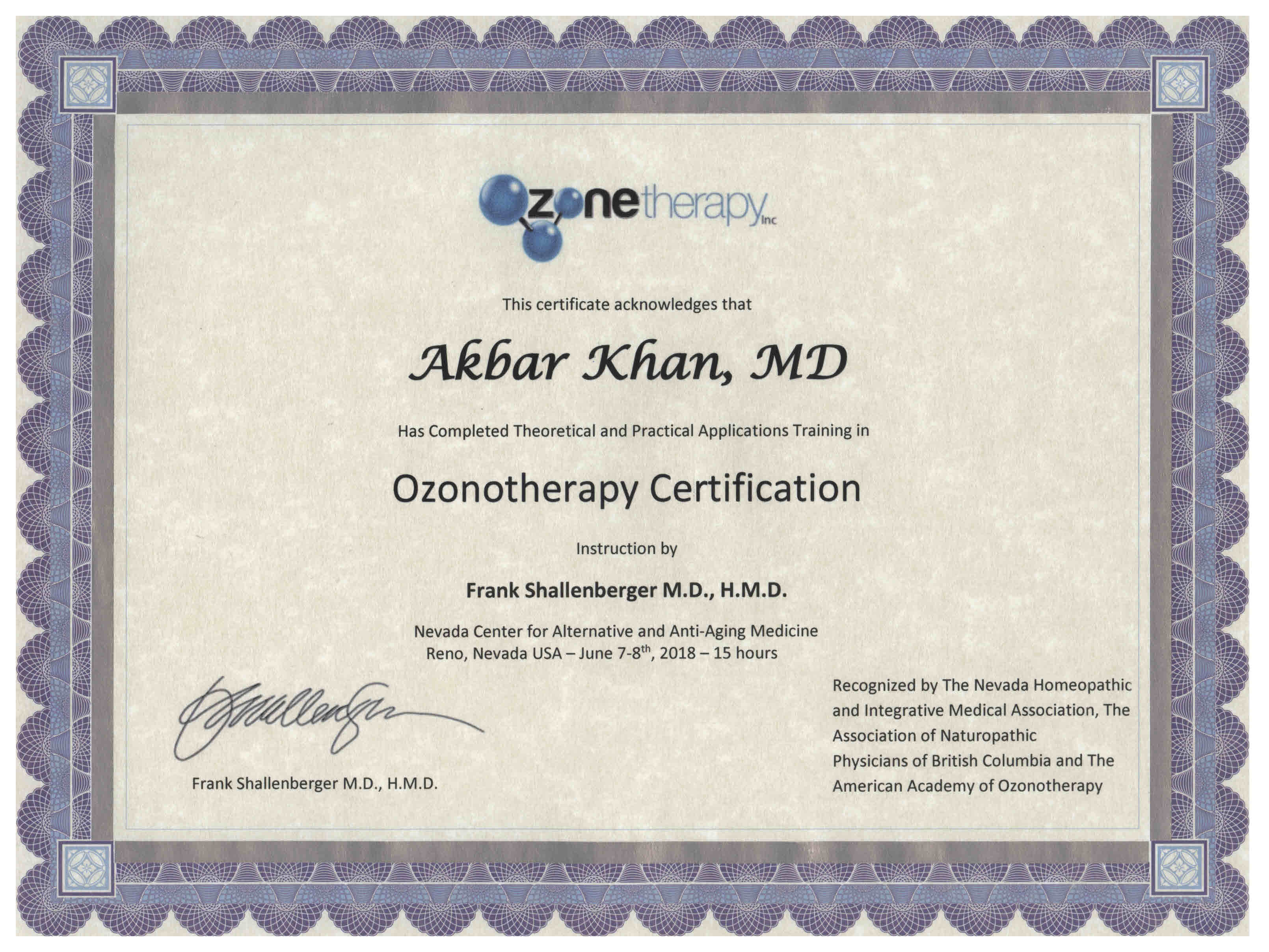 Ozone Therapy at Medicor Cancer and Bio-Oxidative Therapy