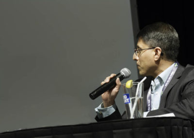 Dr. Khan moderates the discussion.
