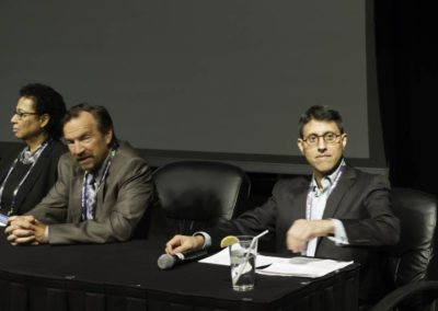 Dr. Khan moderates the chemotherapy discussion panel.
