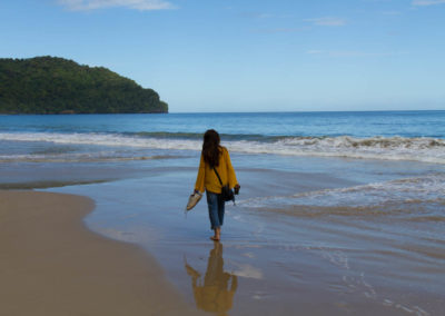 Dr. Humaira Khan enjoys the beautiful beaches of Trinidad
