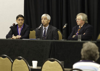Q+A Panel with Drs. Khan, O'Bryan, Dalgleish and Weinstock.