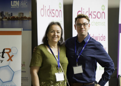 Founder of the LDN Research Trust Linda Elsegood with Stephen Dickson