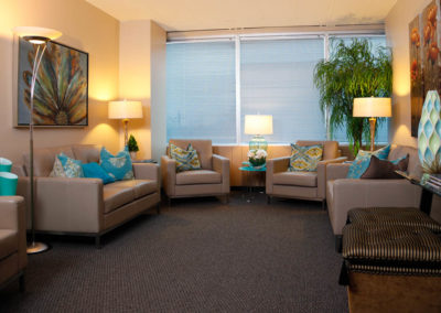 Medicor lounge can accommodate waiting families, or 4 patients having infusion therapy