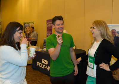 Dr. Matt Pyatt shares a humorous story with Dr. Holly Fennell and Dr. Amy Velichka