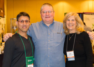Dr. Khan with Dr. Paul Anderson and Dr. Judy Fulop