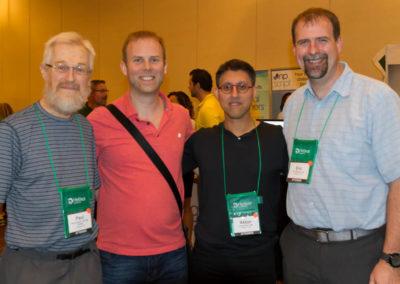 Dr. Paul Sauders, Dr. Michael Reid, and Dr. Eric Marsden with Dr. Khan