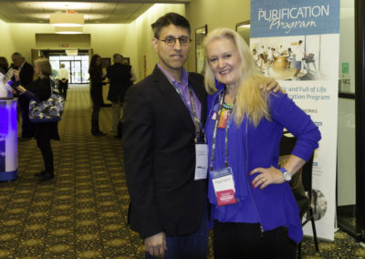 """Dr. Khan with """"momcologist"""" Peggy Higgins, founder of BambOObzled."""