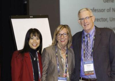 Deanna Won with Dr. Marlène Boudreault and Dr. Tom Seyfried.